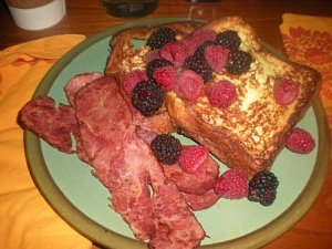 Sunday Morning Brioche French Toast & Berries