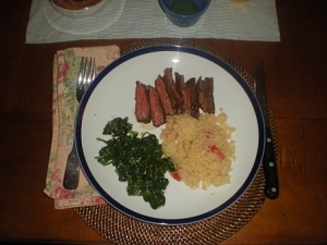Skirt Steak Dinner