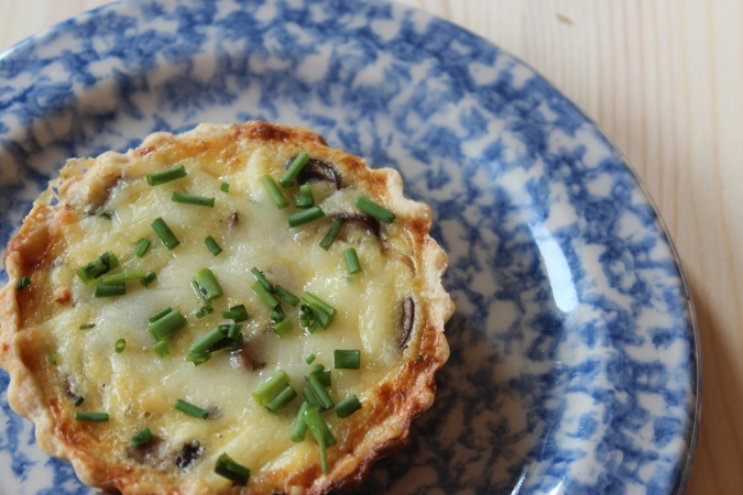 Mushrooms, Gruyere, Baked